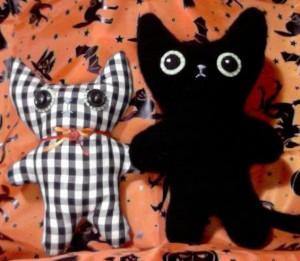 black cat plushie pattern