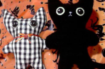 Black Cat Plushie Pattern by Katy Kristin