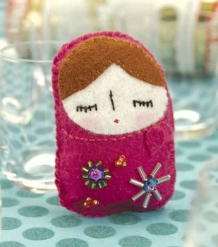 Babushka Plushie Pattern by Cut out and Keep