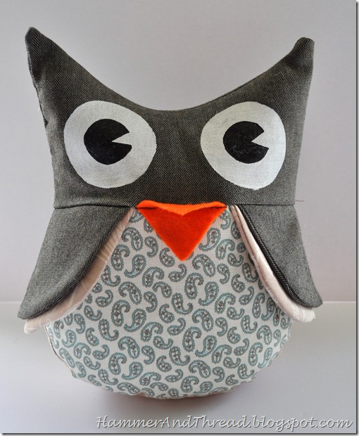 Owl plushie pattern by hammer and thread