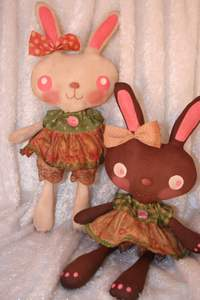 Folksy Bunny Plushie Pattern by Raggedy Old Annies