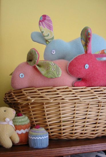 Cashmere Bunny Plushie Pattern by Betz White