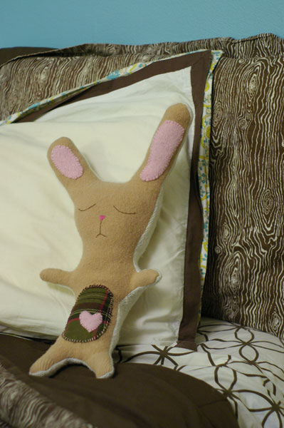 Recycled Sweater Bunny Plushie Pattern by Craftzine