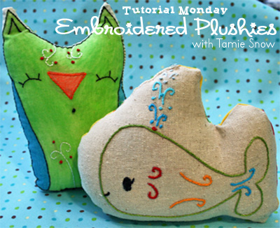 Embroidered Plushie Pattern by Pimp Stitch