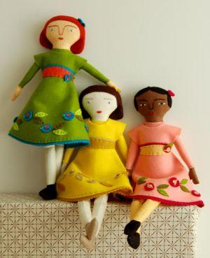 Mimi Kirchner's Hand Sewn Felt Doll