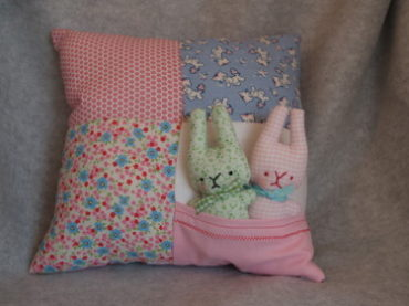 Bunnies in a Pillow Plushie Pattern by Crafty Carnival