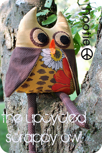 Plushie Owl by New Green Mama
