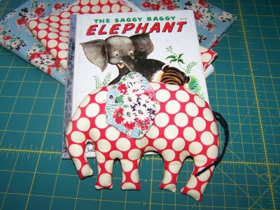 Elephant Plushie Pattern by Quilt Taffy