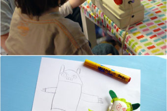 Kids sew it themselves plushie with Revoluzzza