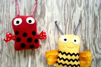 Ribbon Bugs Plushie by Patchwork Posse