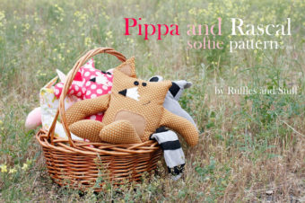 Fox and Racoon Plushie Pattern by Ruffles and Stuff