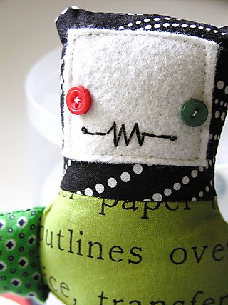 Plushie Pattern Robot Tooth Pillow by Goody-Goody