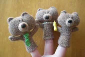 Goldilocks & the 3 Bears Finger Puppets Plushie Pattern by Obsessively Stitching