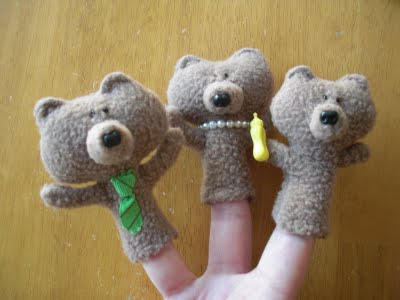 Goldilocks The 3 Bears Finger Puppets Plushie Pattern By