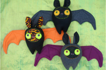 5 Halloween Bats to Sew