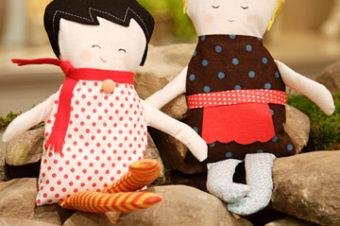 Black Apple Doll Plushie Pattern