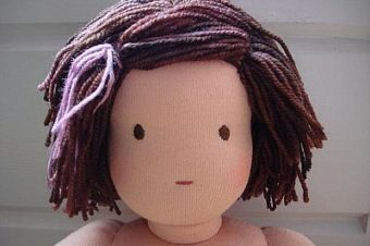 Waldorf Doll Hair Tutorial by Crafty Sheep