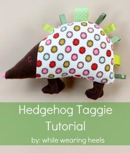 hedgehog taggie plushie pattern
