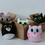 Kitten in a Box Plushie Pattern by Obsessively Stitching