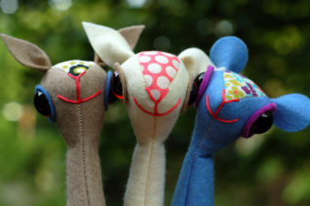 Lamb, Squirrel, and Mouse Finger Puppet Plushie Pattern