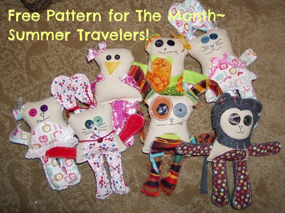 Summer Travelers Plushie Pattern by Patchwork Posse
