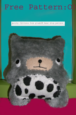 Bear Plushie Pattern by Quirky Critters