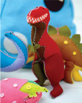 Felty Dinosaur Plushie from Toys to Sew by Claire Garland