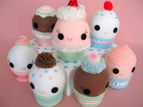 Cupcake Party Stuffie by Craftster