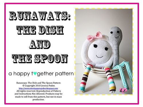 Dish Ran Away with the Spoon Stuffie by Grosgrain