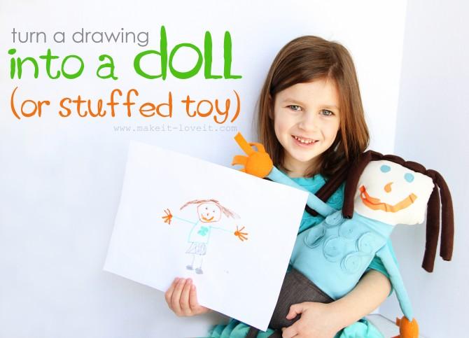drawing to stuffed plushie