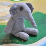 Sock Elephant Stuffie by Frett an friends