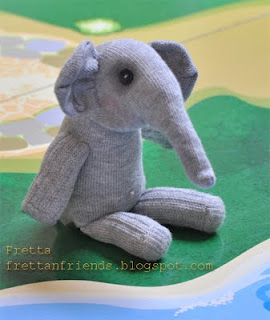 Sock Elephant Stuffie by Frett an friends