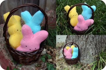 Marshmallow Bunny Stuffie by dandelions and lace