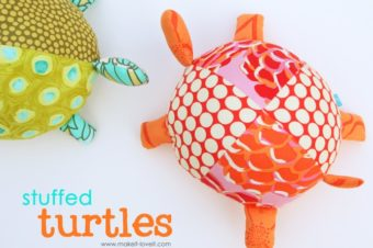 Fabric Turtles Plushie Pattern by Make it and Love it
