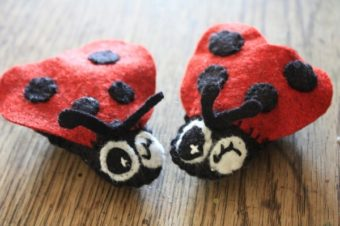 Little Felt Lady Bug Plushie by 5 Orange Potatoes