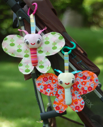 Baby Butterfly Plushie Pattern by Abby Glassenberg