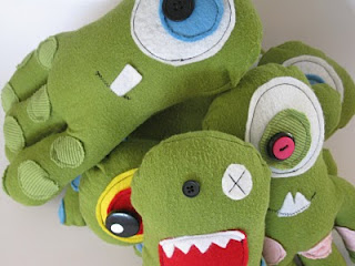 Monster Plushie Pattern by Dragonfly Designs
