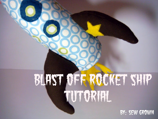 Rocket Plushie Pattern by Sew Grown
