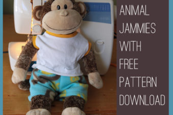 Stuffed animal jammies pattern by it's always autumn