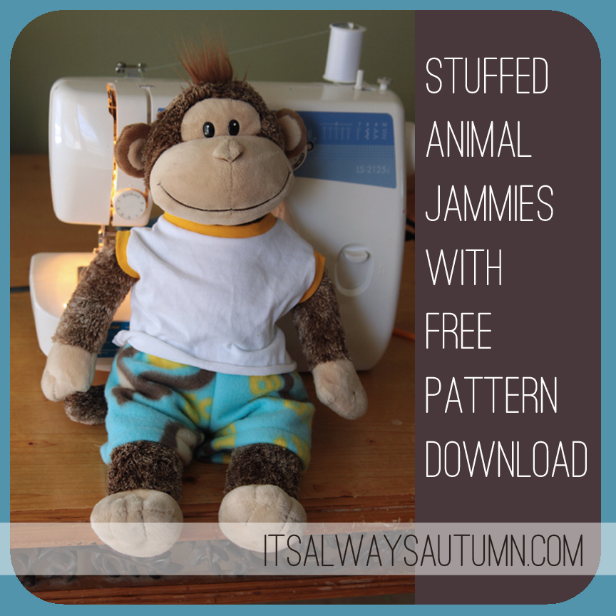 Stuffed Animal Jammies Pattern By Its Always Autumn Plushie Patterns