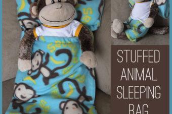 Stuffed Animal Sleeping Bag Plushie Pattern by it's always autumn