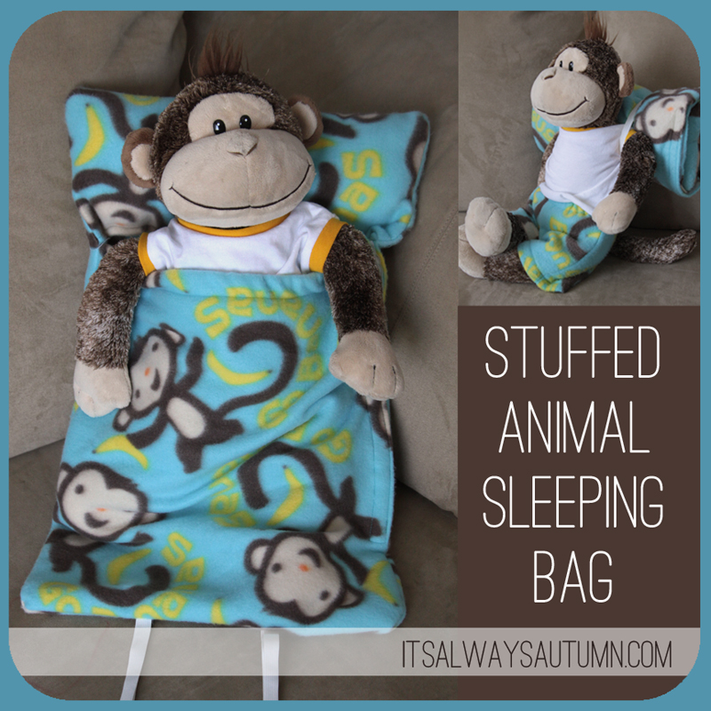 Stuffed Animal Sleeping Bag Plushie Pattern by it's always autumn