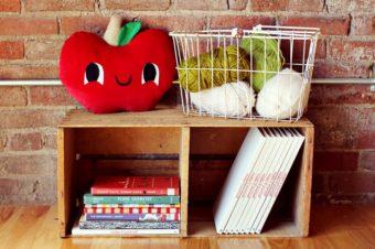 Apple Plush Pillow Tutorial by A beautiful mess