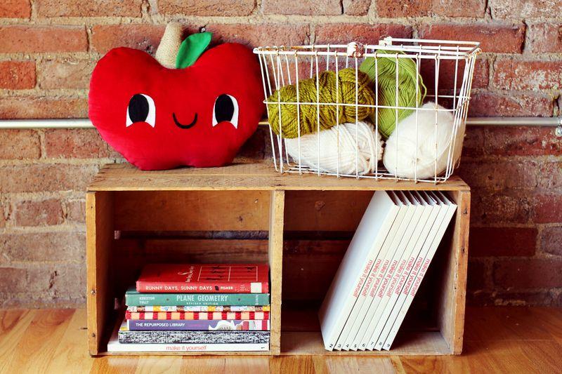 apple plushie pillow