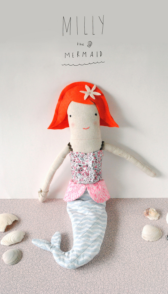 Milly the Mermaid Doll Pattern by Mer Mag