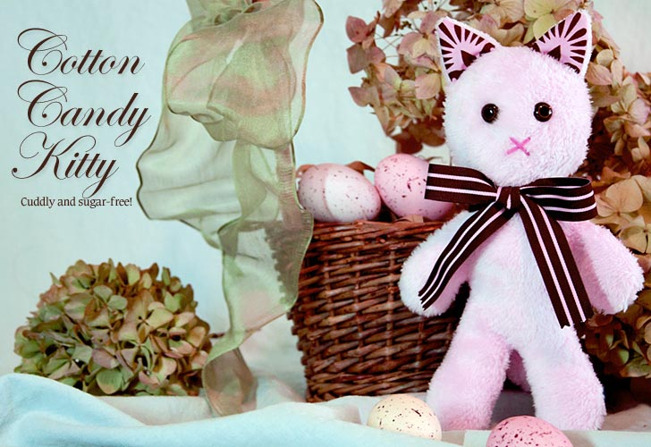Cotton Candy Kitty Plushie Pattern by Sew4Home