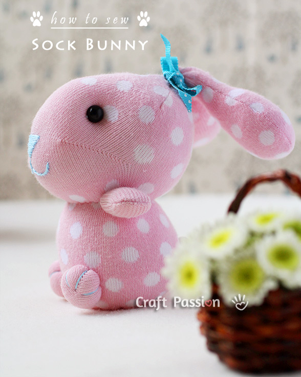 Sock Bunny Plush Pattern by Craft Passion