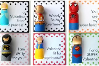 Super Hero Wood Peg Doll by Crossing the Bugger