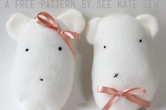 Plush Pattern Fleece Bear Stuffies by See Kate Sew
