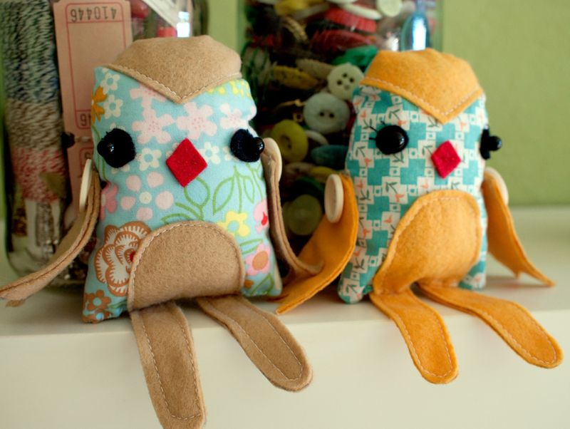 Plush Pattern Little Birdie by Viviana